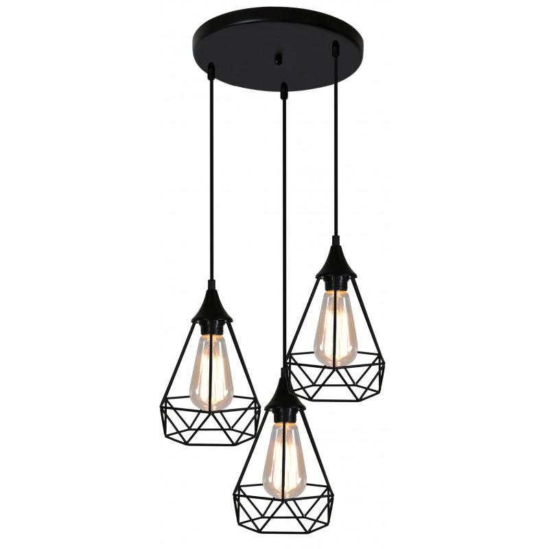 Lampy-sufitowe - druciana ażurowa lampa do loftu na 3 żarówki 33-62918 graf candellux firmy Candellux