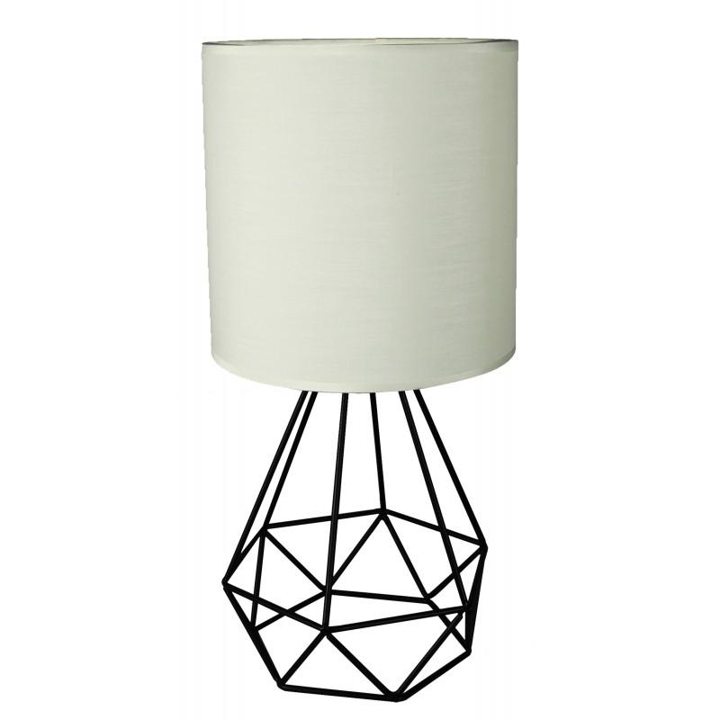 Lampki-nocne - ażurowa lampka biurkowa z kremowym kloszem 41-62925 graf candellux firmy Candellux