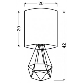 Lampki-nocne - ażurowa lampka biurkowa z kremowym kloszem 41-62925 graf candellux