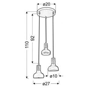 Lampy-sufitowe - szykowna lampa wisząca biała 3x40w e14 puerto 33-62635 candellux