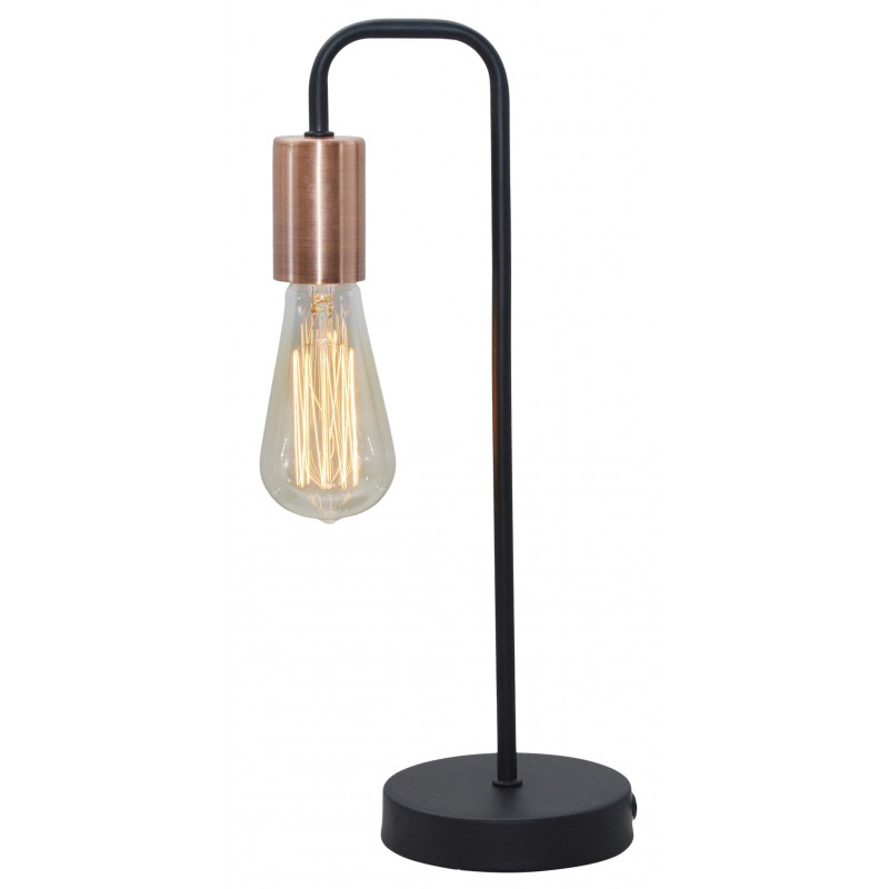 Lampki-nocne - lampa gabinetowa czarna bez klosza 1x60w e27 herpe 41-66862 candellux firmy Candellux