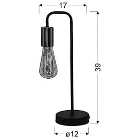 Lampki-nocne - lampa gabinetowa czarna bez klosza 1x60w e27 herpe 41-66862 candellux