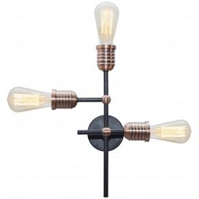 Lampy-sufitowe - oryginalna lampa sufitowa w stylu loftowym 3x60w e27 kirimu 33-66893 candellux