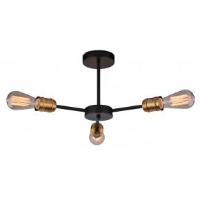 Lampy-sufitowe - industrialna lampa wisząca bez kloszy 3x60w e27 goldie 33-55750-z candellux