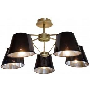 Lampy-sufitowe - pięciopunktowa lampa wisząca patyna 5x40w e14 cortez 35-54999 candellux