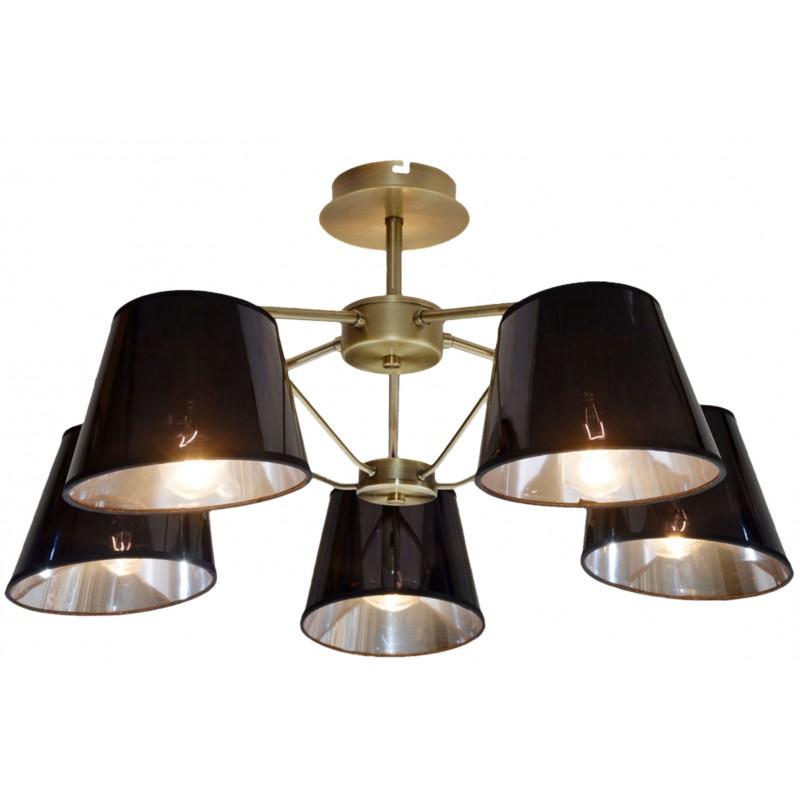 Lampy-sufitowe - pięciopunktowa lampa wisząca patyna 5x40w e14 cortez 35-54999 candellux firmy Candellux
