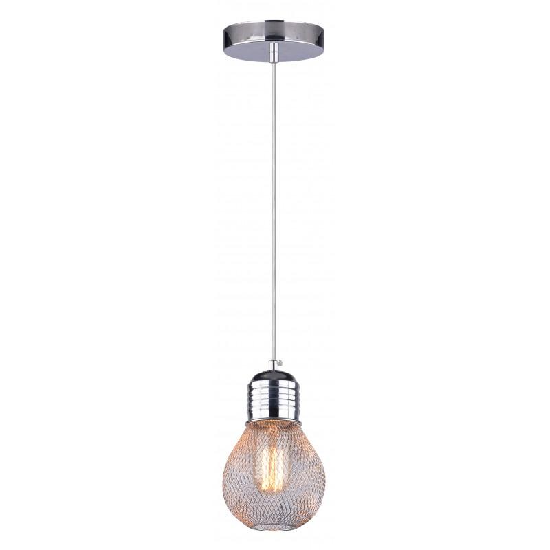 Lampy-sufitowe - lampa wisząca chromowa druciany klosz 1x60w e27 gliva 31-58652 candellux firmy Candellux