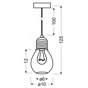 Lampy-sufitowe - lampa wisząca chromowa druciany klosz 1x60w e27 gliva 31-58652 candellux