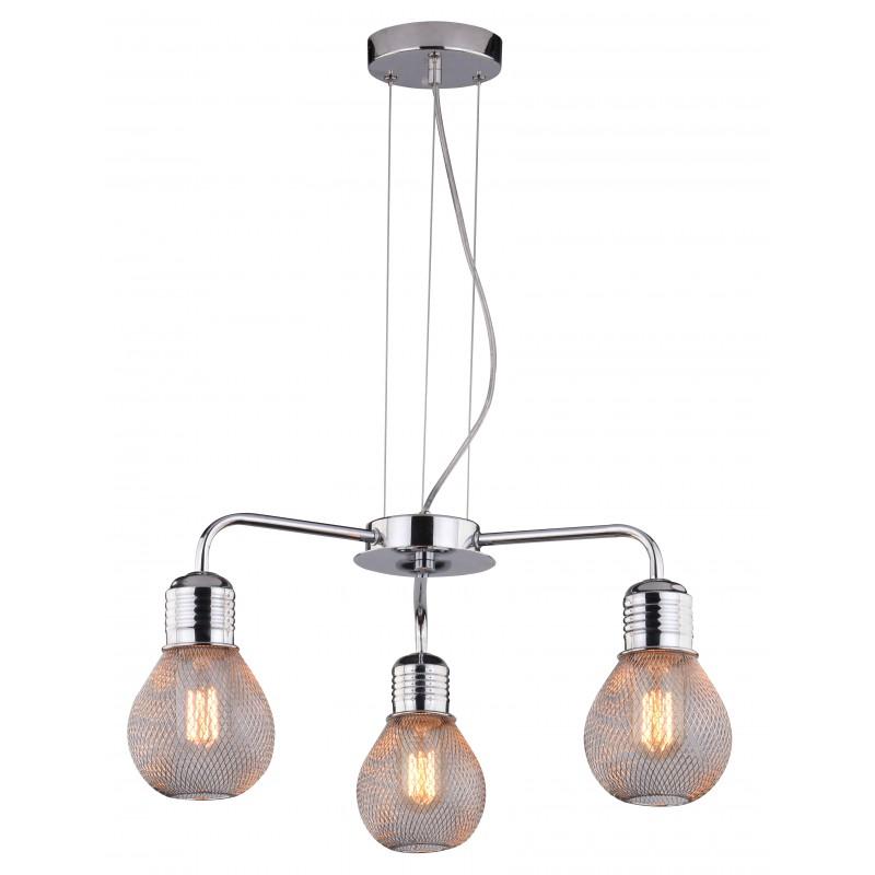 Lampy-sufitowe - oświetlenie wiszące potrójne chromowe 3x60w e27 gliva 33-58539 candellux firmy Candellux