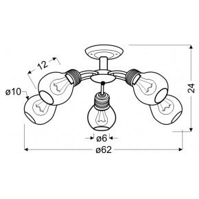 Lampy-sufitowe - nowoczesna lampa sufitowa patynowa 5x60w e27 gliva 35-56603 candellux