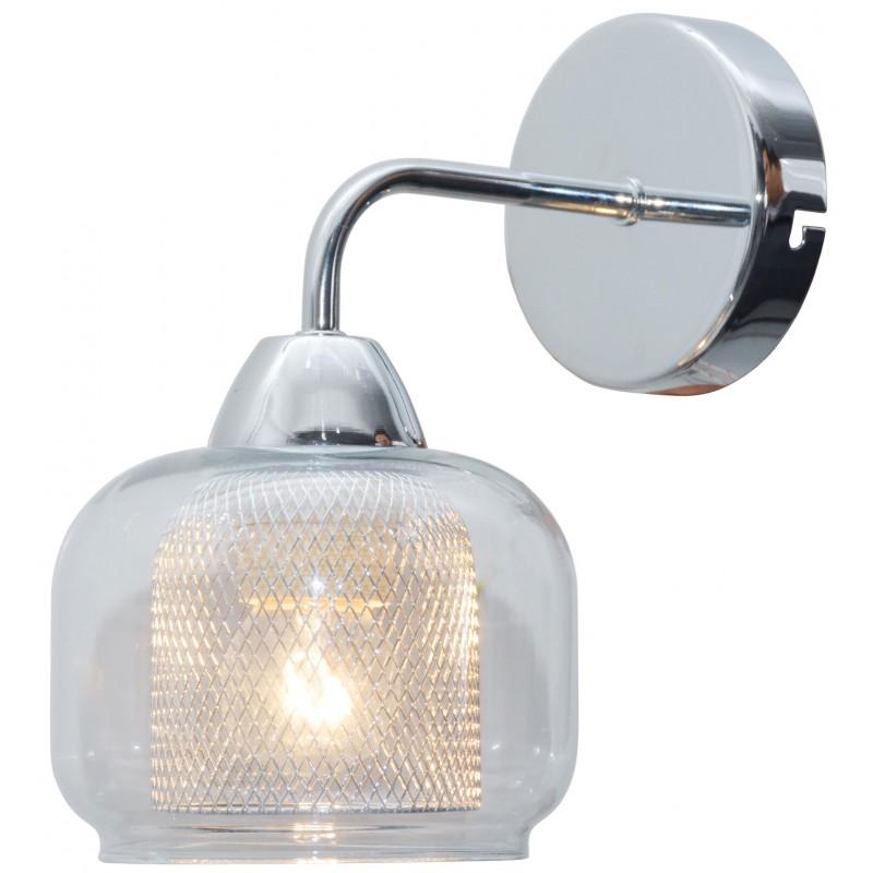Kinkiety - kinkiet ścienny chromowy i lustrzany z siateczką 1x40w e14 ray 21-67067 candellux firmy Candellux