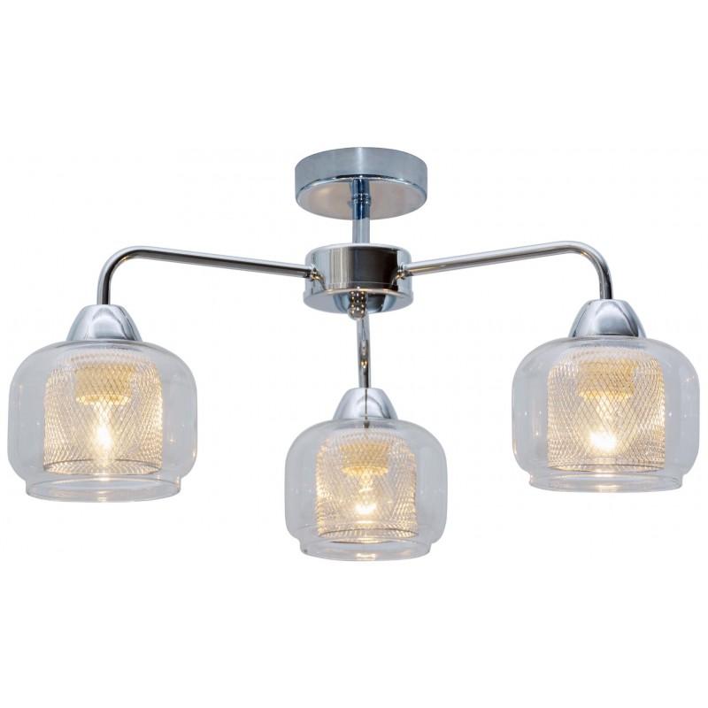 Lampy-sufitowe - chromowa lampa wisząca z szklanymi kloszami 3x40w e14 ray 33-67081 candellux firmy Candellux