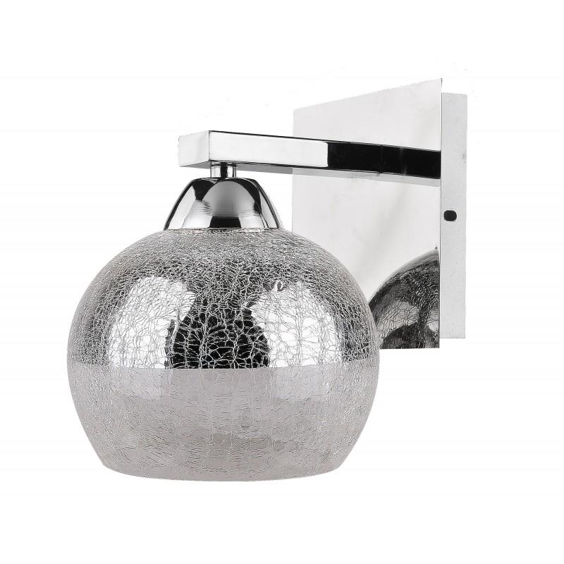 Kinkiety - efektowny kinkiet chromowy 1x60w e27 cromina 21-22240 candellux firmy Candellux