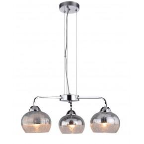 Lampy-sufitowe - lustrzana lampa wisząca z efektem bitego szkła 3x60w e27 cromina 33-56368 candellux