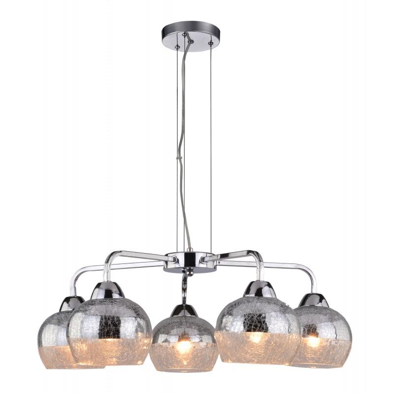 Lampy-sufitowe - efektowna lampa wisząca szklana chromowa 5x60w e27 cromina  35-56375 candellux firmy Candellux