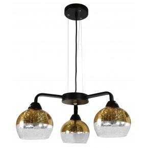 CROMINA GOLD LAMPA WISZĄCA 3X60W E27 CZARNY