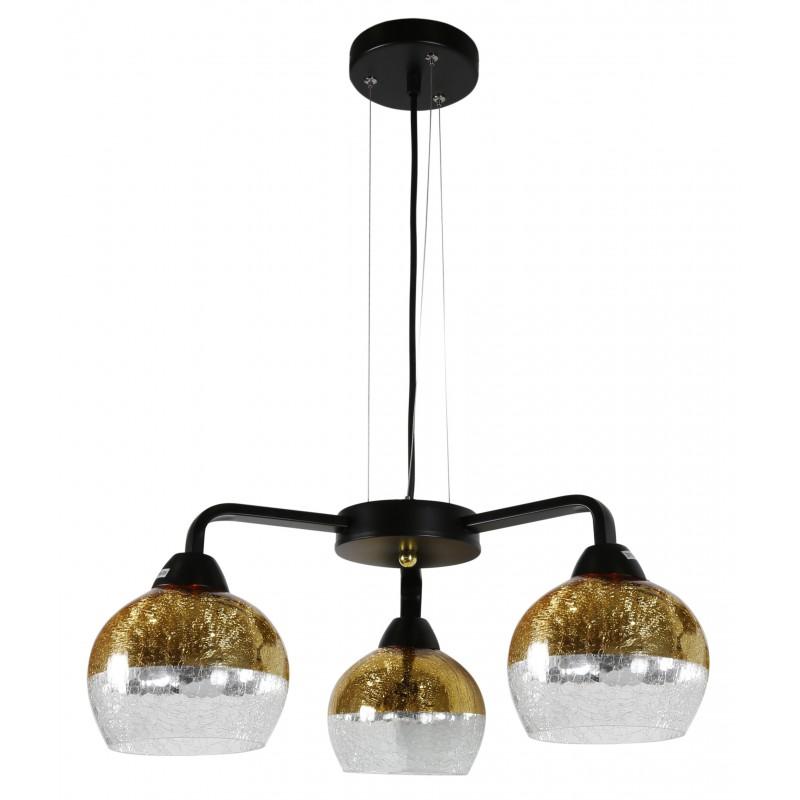Lampy-sufitowe - gold lampa wisząca + szklane klosze 3x60w e27 cromina 33-57259 candellux firmy Candellux