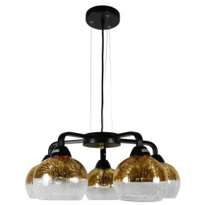 CROMINA GOLD LAMPA WISZĄCA 5X60W E27 CZARNY