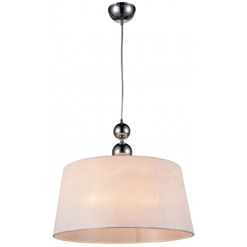 Lampy-sufitowe - wisząca lampa chromowo-biała 45 1x60w e27 clara 31-21601 candellux firmy Candellux