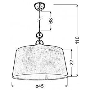 Lampy-sufitowe - wisząca lampa chromowo-biała 45 1x60w e27 clara 31-21601 candellux