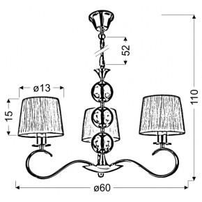 Lampy-sufitowe - lampa wisząca chromowo-biała z tkaninowym abażurem 3x40w e14 clara 33-21618 candellux