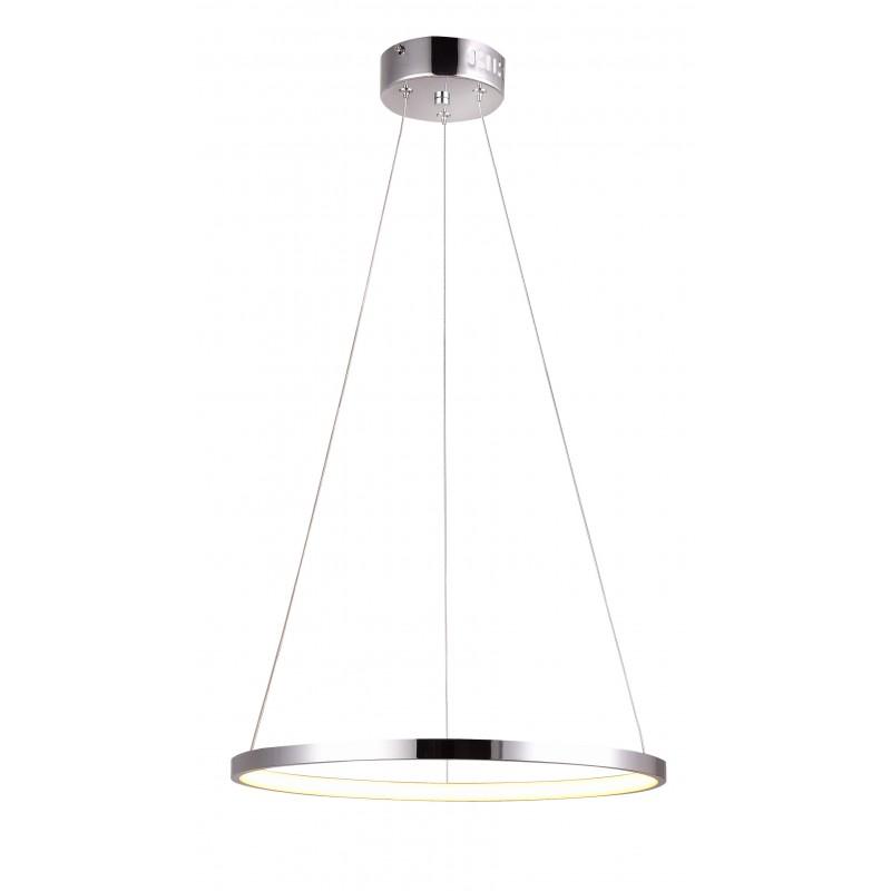 Lampy-sufitowe - okrągła lampa wisząca led chromowa 30 18w 4000k lune 31-64592 candellux firmy Candellux