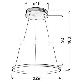 Lampy-sufitowe - okrągła lampa wisząca led chromowa 30 18w 4000k lune 31-64592 candellux