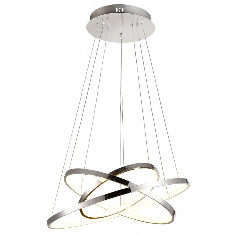 Lampy-sufitowe - lampa wisząca potrójny led w nowoczesnym stylu 60w led 4000k lune 33-64738 candellux firmy Candellux