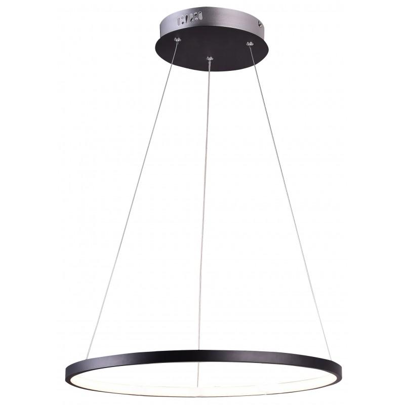 Lampy-sufitowe - czarna lampa wisząca okrągła z wbudowanym led-em 18w 4000k lune 31-64653 candellux firmy Candellux