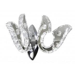 Kinkiety - kinkiet chromowy led podwójny z kryształkami 10w venezia 22-55507 candellux