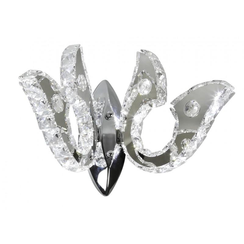 Kinkiety - kinkiet chromowy led podwójny z kryształkami 10w venezia 22-55507 candellux firmy Candellux