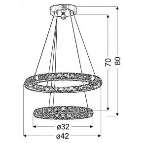 Lampy-sufitowe - nowoczesna podwójna lampa wisząca led 24w z zimnym światłem lords 31-32515 candellux
