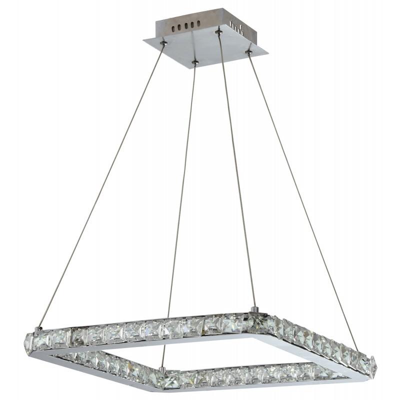 Lampy-sufitowe - nowoczesna kwadratowa lampa wisząca 42x42 24w led lords 31-34854 candellux firmy Candellux