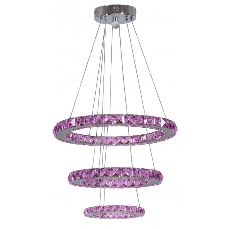 Lampy-sufitowe - lampa wisząca potrójna led rgb z pilotem chrom 48w lords 33-63090 candellux firmy Candellux