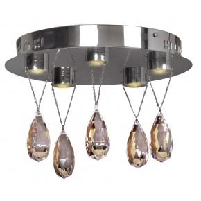 PRISMA LAMPA SUFITOWA PLAFON 5X3W LED CHROM
