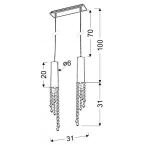 Lampy-sufitowe - oświetlenie sufitowe chromowe dwupunktowe 2x3w led gu10 duero 32-25265 candellux