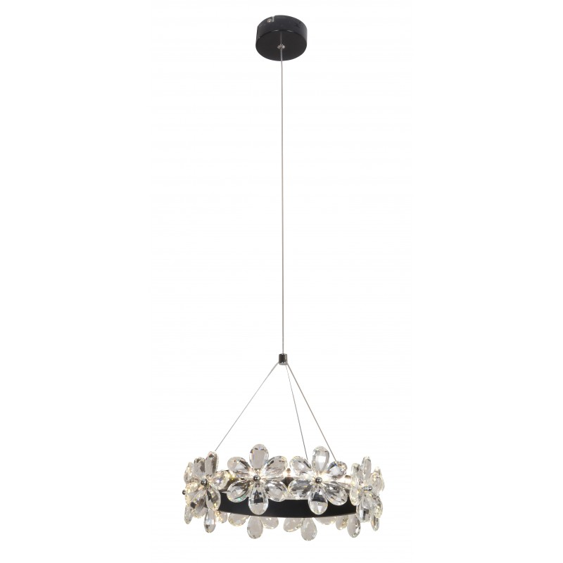 Lampy-sufitowe - wyjątkowa lampa wisząca z krysztalikami 30 14w led arvin 31-69702 candellux firmy Candellux