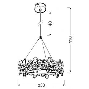 Lampy-sufitowe - wyjątkowa lampa wisząca z krysztalikami 30 14w led arvin 31-69702 candellux