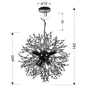 Lampki-nocne - oświetlenie sufitowe o nietuzinkowym kształcie 40 8x40w e14 capella 31-69719 candellux