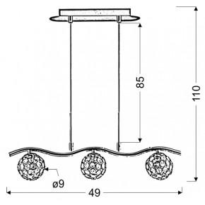 Lampy-sufitowe - lampa wisząca z kryształowymi kloszami 3x40w g9 starlet 33-85743 candellux