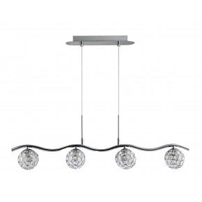 Lampy-sufitowe - oświetlenie sufitowe z transparentnymi kryształkami 4x40w g9 starlet 34-85750 candellux