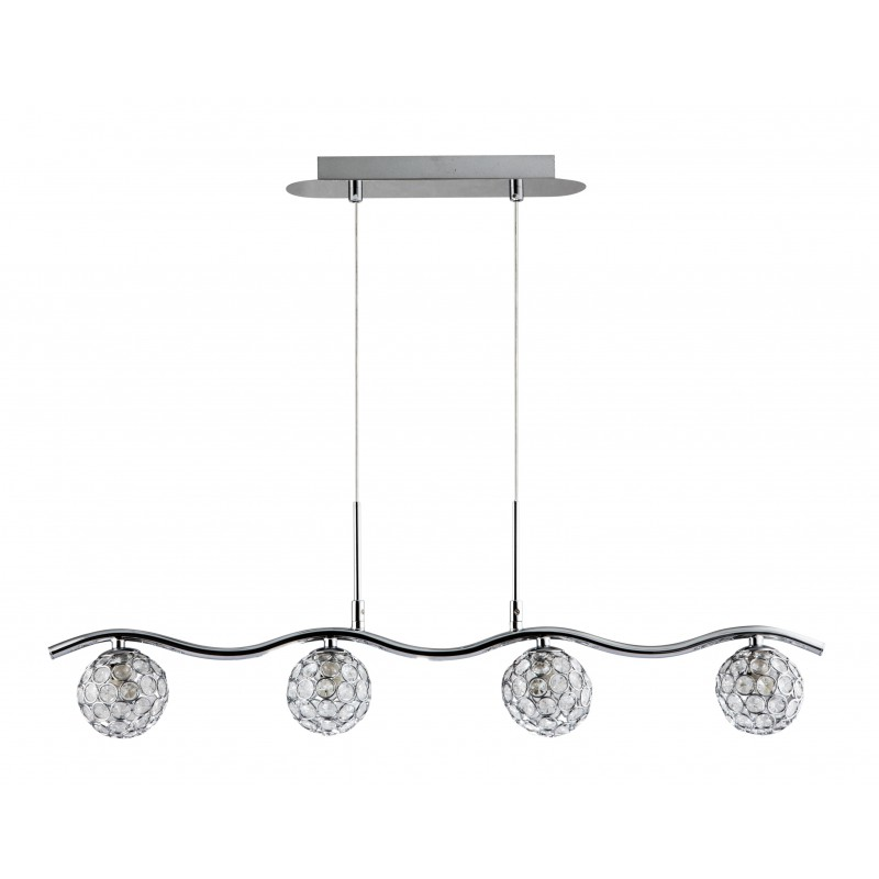 Lampy-sufitowe - oświetlenie sufitowe z transparentnymi kryształkami 4x40w g9 starlet 34-85750 candellux firmy Candellux