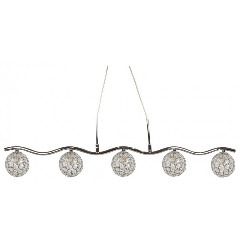 Lampy-sufitowe - lampa wisząca chromowo-transparentna 5x40w g9 starlet 35-85767 candellux firmy Candellux