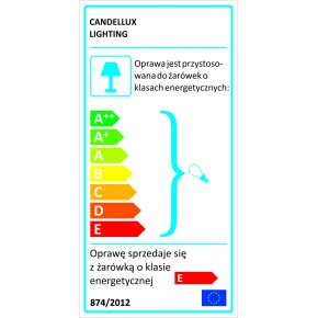 Kinkiety - kinkiet chromowy z transparentnymi kryształkami 1x40w g9 starlet 91-85781 candellux