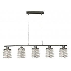 ROYAL LAMPA WISZĄCA 5X40W G9 CHROM+KRYSZTAŁKI