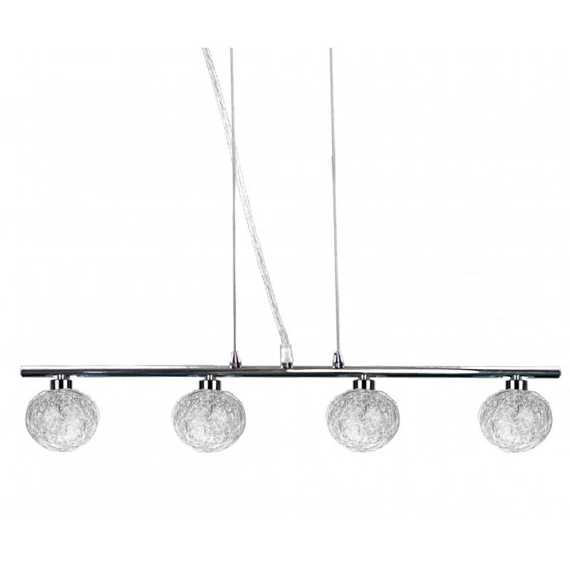Lampy-sufitowe - czteropunktowa lampa wisząca chromowa 4x40w g9 sphere 34-14047 candellux firmy Candellux