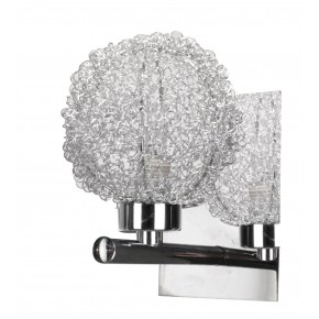 Kinkiety - kinkiet chromowy w oplocie metalowym 1x40w g9 wind 21-14078 candellux