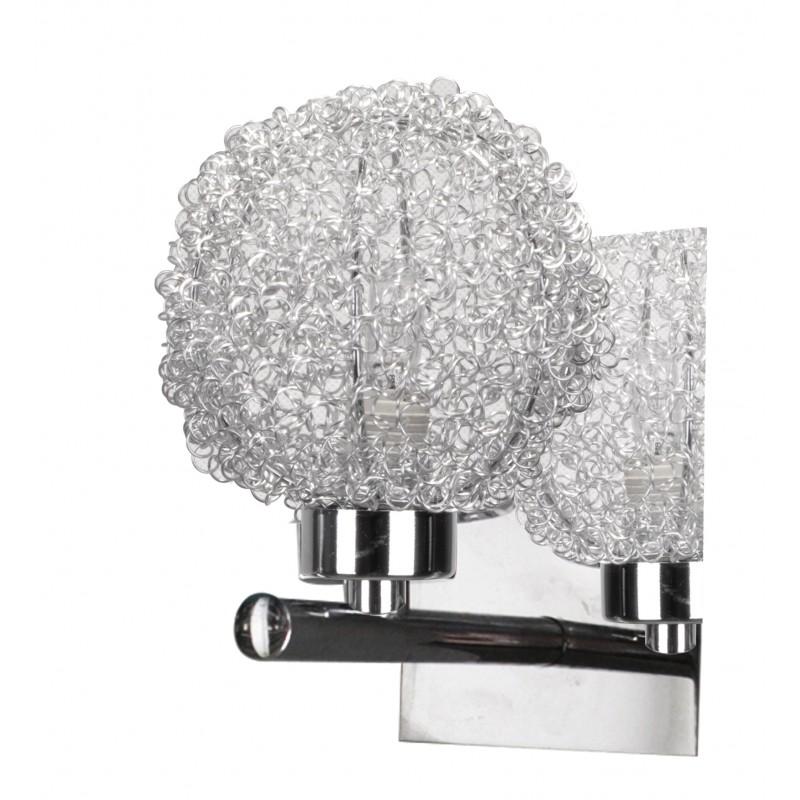 Kinkiety - kinkiet chromowy w oplocie metalowym 1x40w g9 wind 21-14078 candellux firmy Candellux
