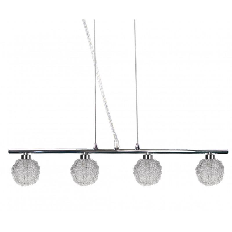 Lampy-sufitowe - oświetlenie sufitowe chromowo-szklane czteropunktowe 4x40w g9 wind 34-14092 candellux firmy Candellux