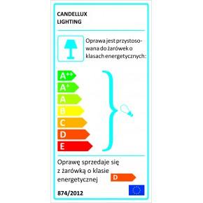 Lampy-sufitowe - oświetlenie sufitowe chromowo-szklane czteropunktowe 4x40w g9 wind 34-14092 candellux